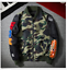 Men Japan Zip Aape Camouflage Jacket Bape Shark Head FW0 Army Flight Bomber Coat
