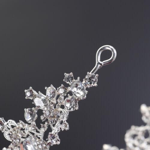 Royal Kristall Krone Braut Hochzeit Tiara Prinzessin Krone Haarreife Kopfschmuck