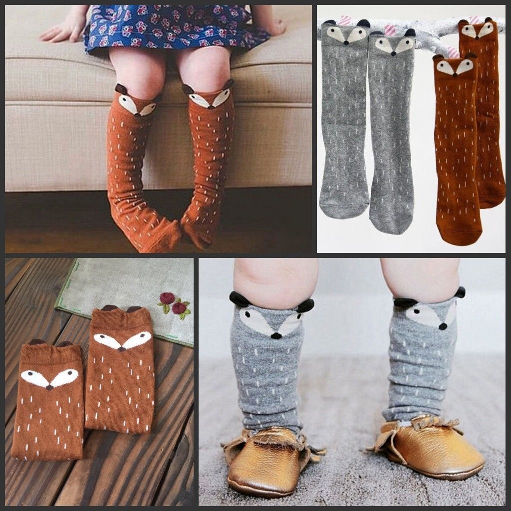 kinder m dchen cartoon muster weiche baumwolle socken kniehoch str mpfe 19 style ebay. Black Bedroom Furniture Sets. Home Design Ideas