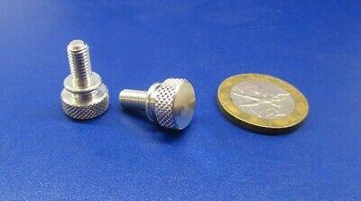 """7//16/"""" Dia 8 Pcs Flared Shoulder Aluminum Thumb Screw 10-32 x 3//8/"""" Length"""