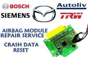 mazda 6 gdk4-57k30 airbag srs ecu airbag module crash data reset