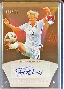 Megan Rapinoe 2015 Panini USA Soccer Signatures 093/199 USWNT Auto Autograph