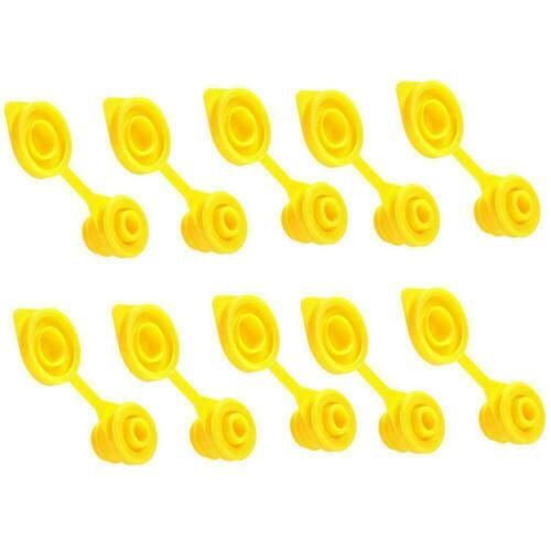 10*Yellow Gas Can Spout Fuel Container Jug Vent Stopper Plug Caps R9A8