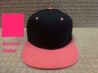 Lids Women's One-fit Hats blank Slam -- Black, Pink Flat Brim