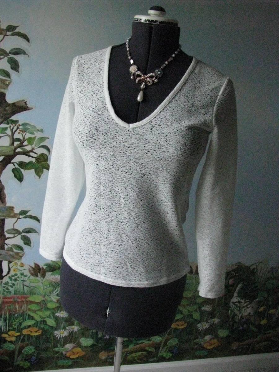 Reiss Weiß Dandy-Fitted V Neck Long Sleeve Woherren Blouse Größe 4 New