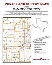 Fannin County Texas Land Survey Maps Genealogy History