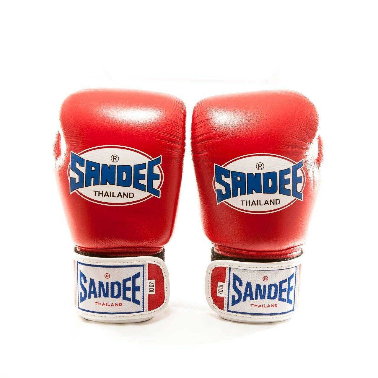 Sandee Authentic Leder Boxing Gloves - ROT/Weiß Thai Boxing gloves