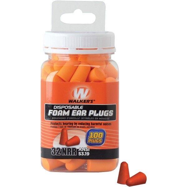 Walkers Gwp-fp-50pk Game Foam Ear Plug 100c Jar Orange for sale online