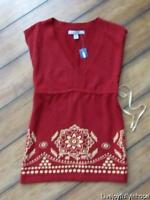 Old Navy Size Xs Boho Print Sleeveless Summer Sweater