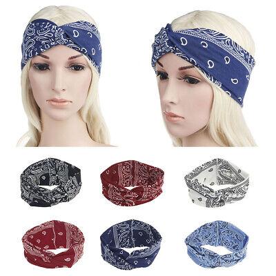 Floral Head Wrap Women Knotted Hair Band Elastic Turban Yoga Twisted Headband