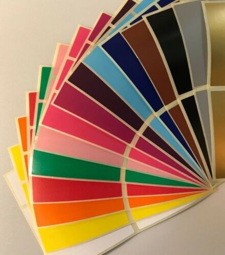 Large 30 x 78mm Colour Code Rectangles Sticky Labels File Folder Stickers