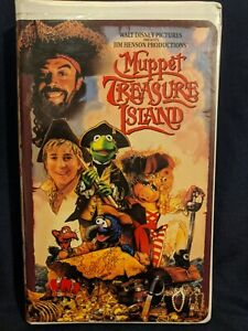 Jim-Henson-Movie-Muppet-Treasure-Island-VHS-1996-Muppets-Tim-Curry-Frank-Oz