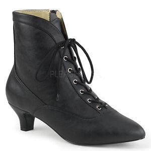 schwarz Vintage Steampunk Granny Ankle Stiefel Womans Größe Costume Schuhes Größe Womans f0dc13