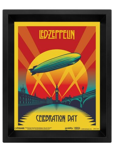 3D Gerahmtes Lentikularplakat Led Zeppelin Celebration Day 20 x 25 cm