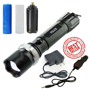 Tactical Bright Police Heavy Duty 5W Rechargeable Flashlight High Quanlity