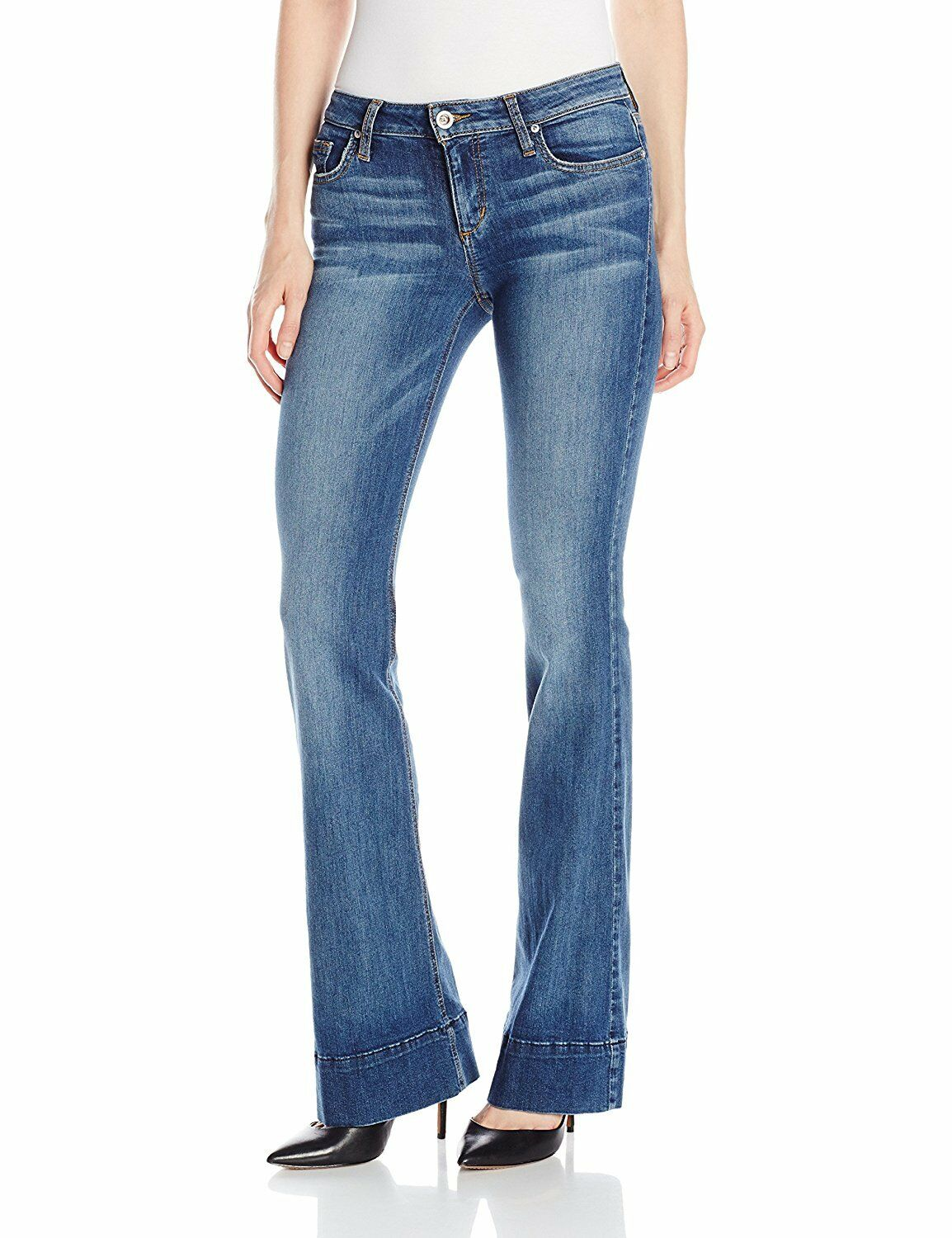 Joe's Jeans The Icon Flare Eco-Friendly Denim Mid Rise Pants Cayla 29  225