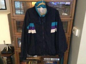 VTG-90-s-Pro-Spirit-Full-Zip-Poly-Cotton-Lined-Nylon-Color-Block-Jacket-SZ-XXL