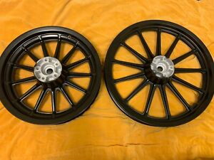 "Harley 13 Spoke 19"" & 16"" Mag Wheels Dyna Sportster Custom"