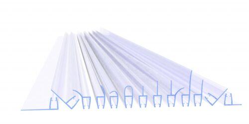 VA006-30-17 2 Stück Glasstärke 6 Duschdichtung Duschtürdichtung Typ 8 mm