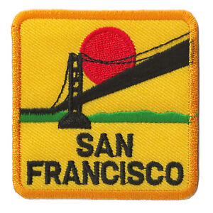 Ecusson-patche-San-Francisco-Frisco-USA-patch-voyage-patch-brode-thermocollant