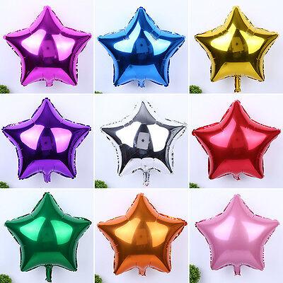 5/10pcs 10'' Five-pointed Star Helium Foil Balloon Wedding Birthday Xmas Decor