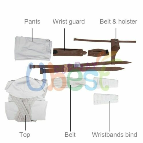 Star Wars 9 The Rise of Skywalker Rey Cosplay Costume Full Set Outfit Version 1