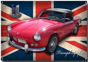 Triumph Spitfire Metal Sign A3 Size Classic British Triumph Sports Cars Ebay