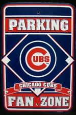 CHICAGO CUBS Parking Fan Zone Sign - Man Cave *Brand New*