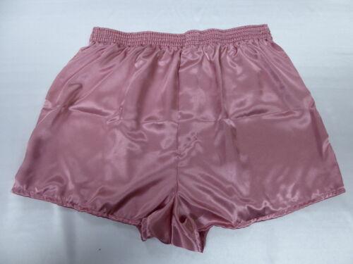 Rose Pink Satin Boxers in Large