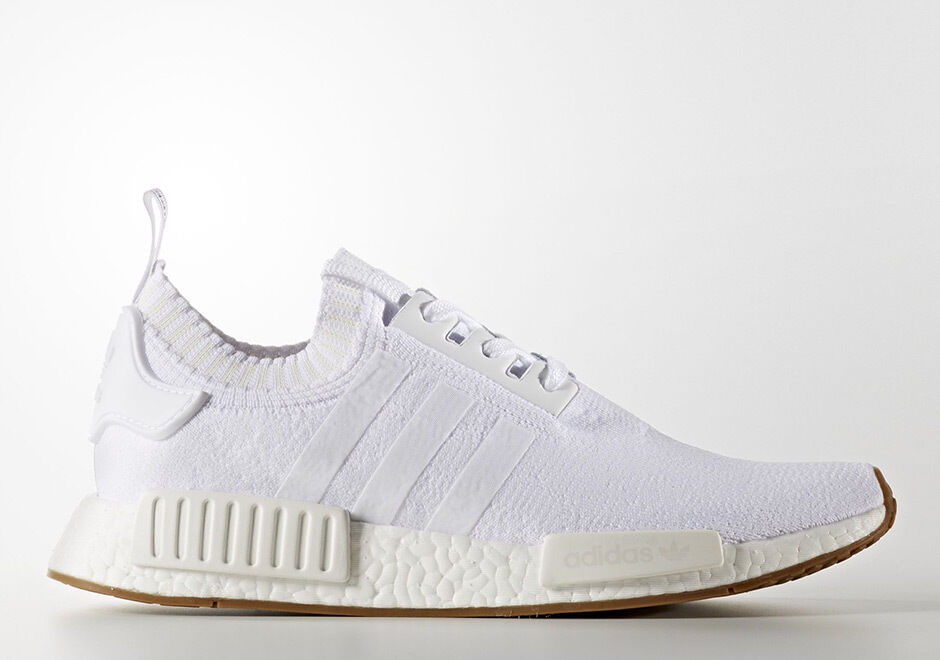 Adidas NMD R1 PK Primeknit White Gum Size 12. BY1888 yeezy ultra boost