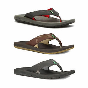 a328c7f8c182aa Image is loading Sanuk-Latitude-Men-039-s-Padded-Flip-Flop-