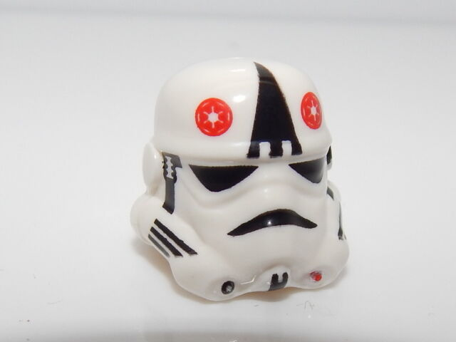 Lego Headgear Helmet Stormtrooper At-at Driver Large Black Triangle Pattern  H#4