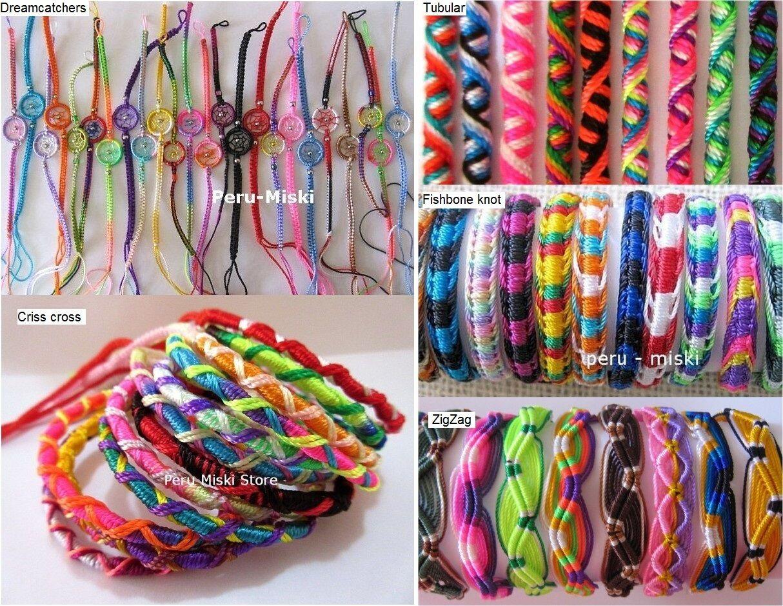 Lot 100 Friendship Bracelets Dreamcatcher Handmade Peruvian Jewellery Stock UK