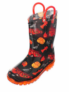 Lilly-Boys-039-Light-Up-Rubber-Rain-Boots-Sizes-5-12