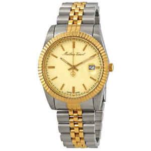 Mathey-Tissot-Rolly-III-Gold-Dial-Men-039-s-Watch-H810BDI