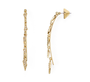 Alexis Bittar Futurist Women's gold Dangle Drop Earrings 0257