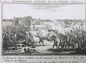 Massacre-du-Champs-de-Mars-1791-Rare-Gravure-de-la-Revolution-Francaise