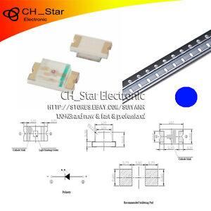100pcs-SMD-0603-SMT-1608-Led-Azul-diodos-emisores-de-luz-Super-Brillante