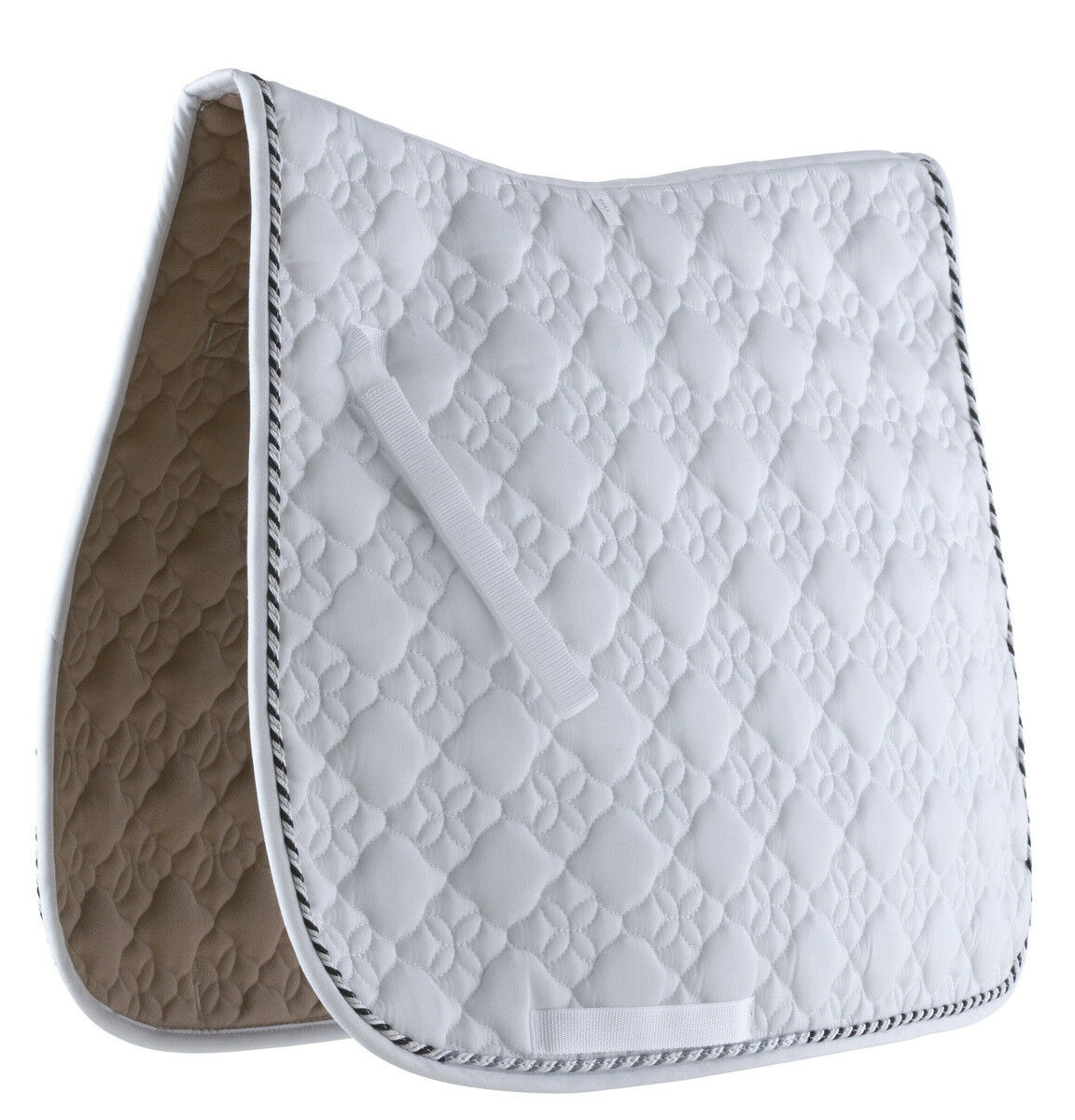 Roma Ecole Flower Diamond Quilt Dressage Saddle Pad Girth Guard 40  x 23