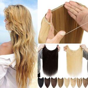 offizielle Fotos Laufschuhe billig zu verkaufen Details zu Remy Wire Extensions Echthaar Draht/Flip in Haarverlängerung Ein  Tressen NO Clip