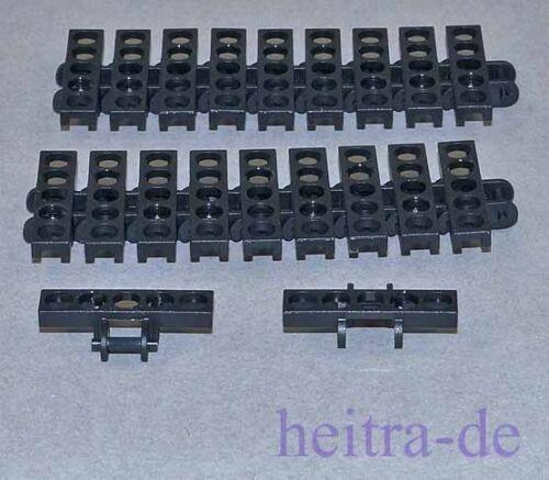 Black Link Tread 20 x Kettenglied breit schwarz 3873 NEUWARE LEGO Technik