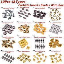 TJATSE 5 Pieces Carbide Threading Inserts 16ER AG60 Tungsten Carbide CNC Lathe Indexable Threading Carbide Insert Blade