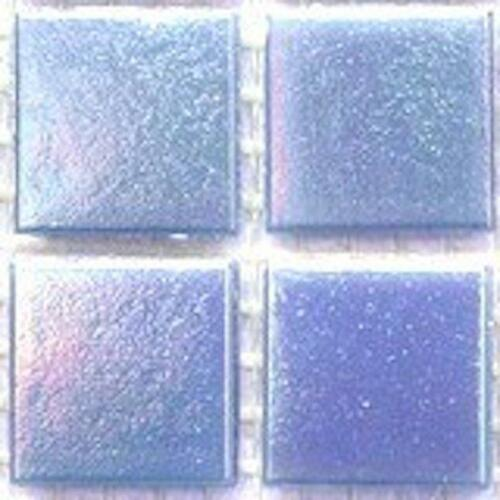 75 Vitreous Iridescent Mosaic Tiles 20mm - Blue Opal