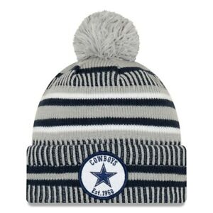 New Era Dallas Cowboys NFL 2019 Home Sport Knit Pom Beanie Unisex Blue