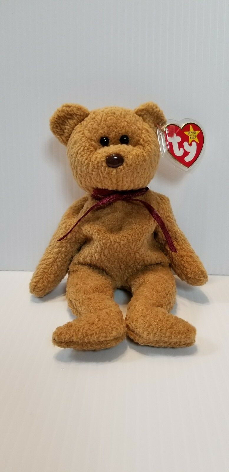 TY BEANIE BABY CURLY BEAR WITH RETIRED WITH BEAR ERRORS GEM RARE MINT a918ae a6733544aead