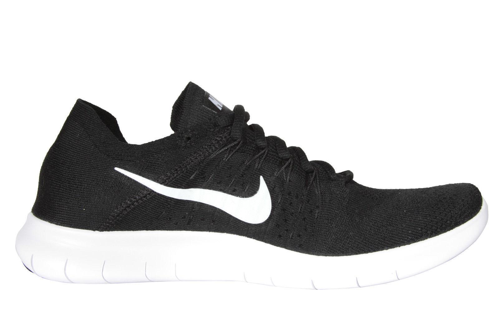 7a2657187816e Nike RN Flyknit 2017 Run Black White Men Running Shoes SNEAKERS ...