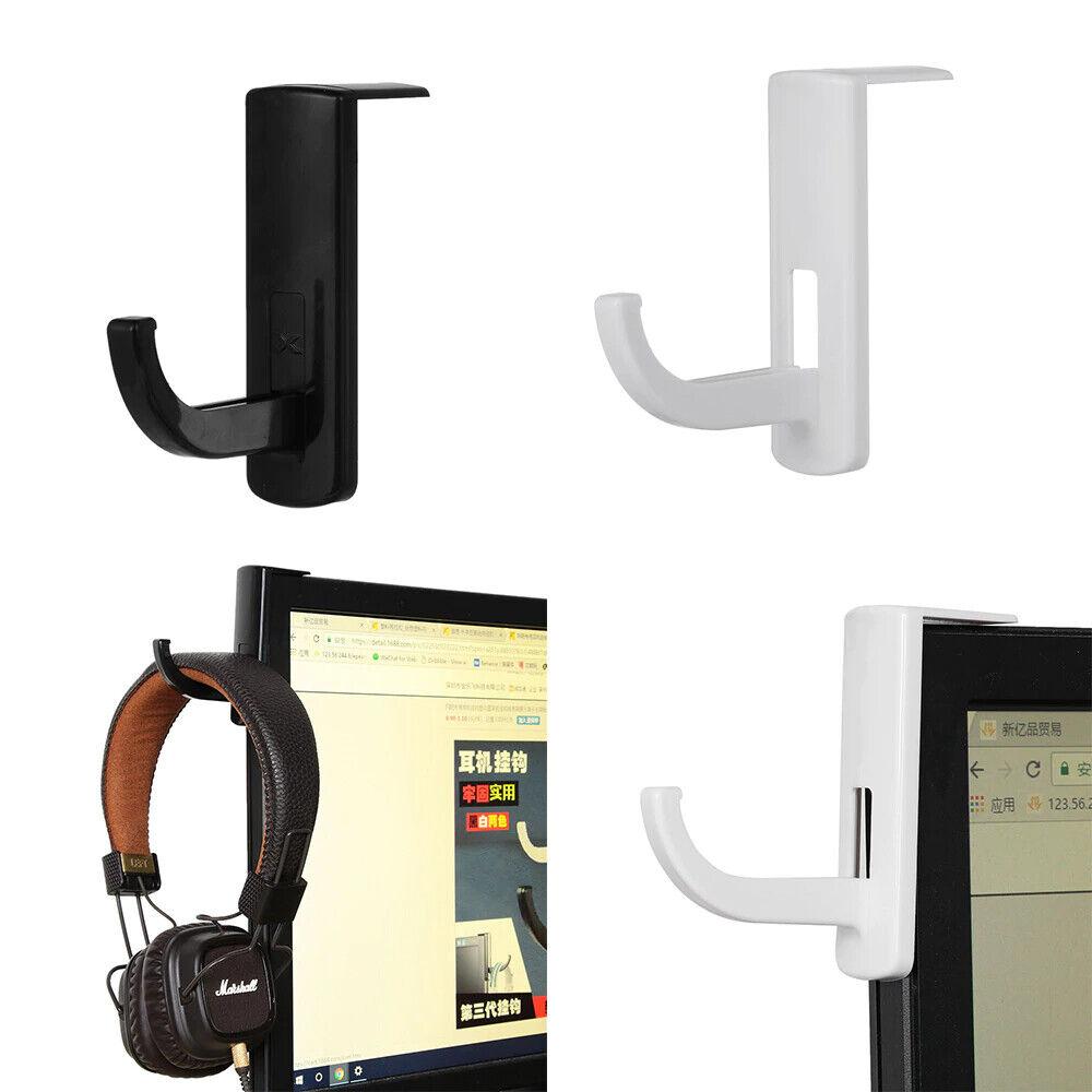 1pc Earphone Holder Headphone Headset Hanger Hook for Desk PC Display w/ Tape