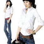 Womens Summer Business Ladies Work Top Smart Blouse Collar Shirt Size 12 10 8 6
