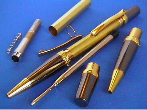 Woodturning Pen Kits SIERRA ELEGANCE Gold//Chrome//Satin Chrome etc
