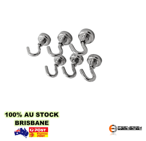 4x 4pk Magnetic Hooks 16mm 5kgRare Earth Hook Hanger MagnetHome Office